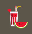 Fresh Watermelon Juice Drink vector image vector image