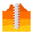 geomechanics icon vector image vector image