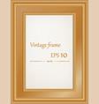 golden vintage wood frame vector image vector image