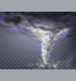 gray hurricane tornado with lightnings vector image vector image