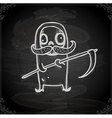 Hand Drawn Grim Reaper vector image