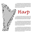Harp with musical notes for infographics design vector image vector image