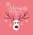 head of reindeer christmas character vector image