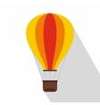 Hot air balloon icon flat style vector image vector image