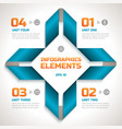 infographics geometric template vector image vector image