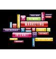 Internet Marketing cloud text concept vector image vector image