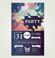 Invitation disco partyTypography vector image