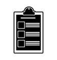 isolated checklist design vector image vector image