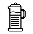 kettle coffee icon outline style vector image vector image