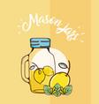 mason jars juice vector image vector image