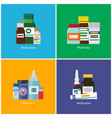medication and pharmacy vector image vector image