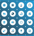 multimedia colorful icons set collection of vector image vector image