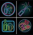 neon light design for beverage vector image
