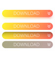 orange download web buttons isolated on white vector image vector image