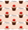 Pastries Strawberry Cupcakes vector image