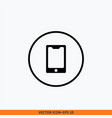 phone icon round button icon for your website vector image vector image