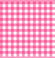 picnic table cloth seamless pattern pink picnic vector image vector image