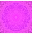 Pink Circle Lace Ornament vector image vector image