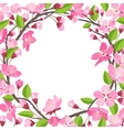 pretty beautiful shabchick cherry blossom vector image vector image