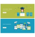 Project management stock market - training vector image vector image