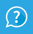 question mark isolated icon with shadow on blue vector image vector image