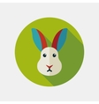 Rabbit flat icon with long shadow vector image vector image