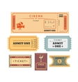 Retro tickets set vector image