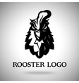 rooster head logo template vector image