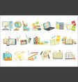 school education and studies related vector image