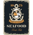 seafood restaurant with maritime cook vector image vector image