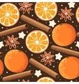 Seamless orange and cinnamon vector image vector image