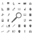 search icon set vector image vector image