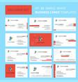 set of 12 employee creative busienss card vector image vector image