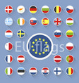 set of european union flags flat design vector image vector image