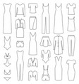 set of woman clothes icons vector image vector image