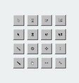 set pixel perfect cursors in style vintage vector image
