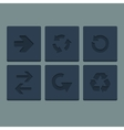 Simple grey stamp flat arrow icons set Web vector image vector image