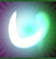 single light blue neon letter u of vector image