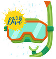 snorkeling and diving center logo vector image vector image