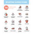 sporting goods store - modern simple icons vector image vector image