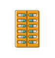 tablet antibiotic vitamin capsule packaging for vector image