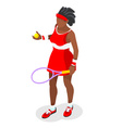 Tennis 2016 Sports Isometric 3D vector image vector image