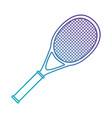 tennis sport racket icon vector image vector image