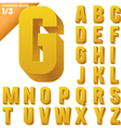 Three-dimensional condensed alphabet vector image
