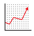 trend up graph icon profits sign on white vector image vector image