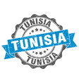tunisia round ribbon seal vector image vector image