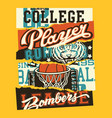 vintage american college sporting labels patchwork vector image vector image