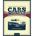 vintage poster with retro car 70s vector image vector image
