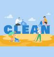 volunteer people characters gathering garbage vector image vector image