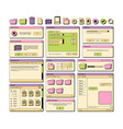 web ui 90s layout screen elements frame pages